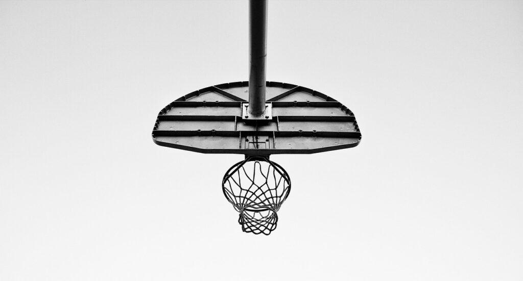 permanent basketball hoop